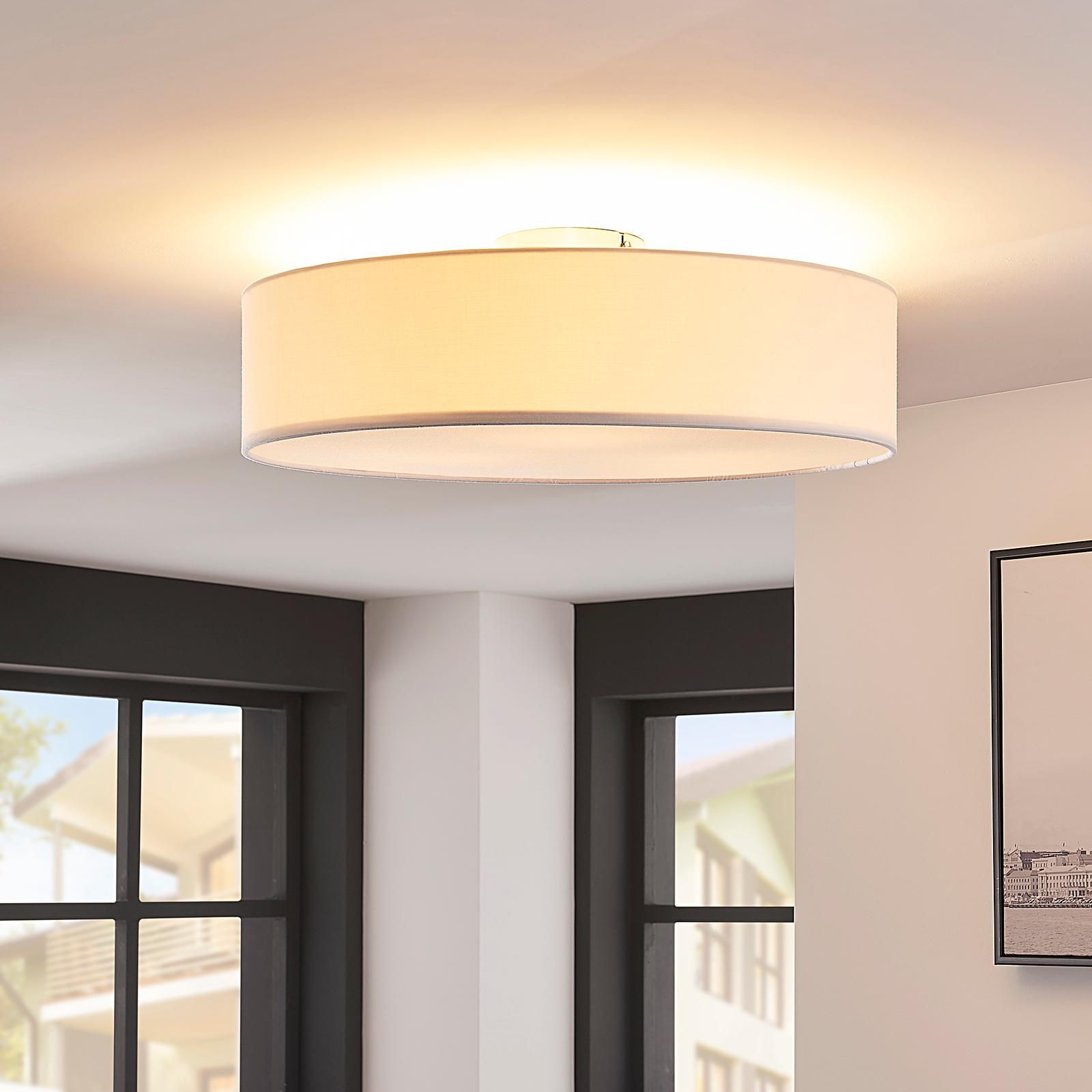 Vit LED-taklampa Sebatin av tyg
