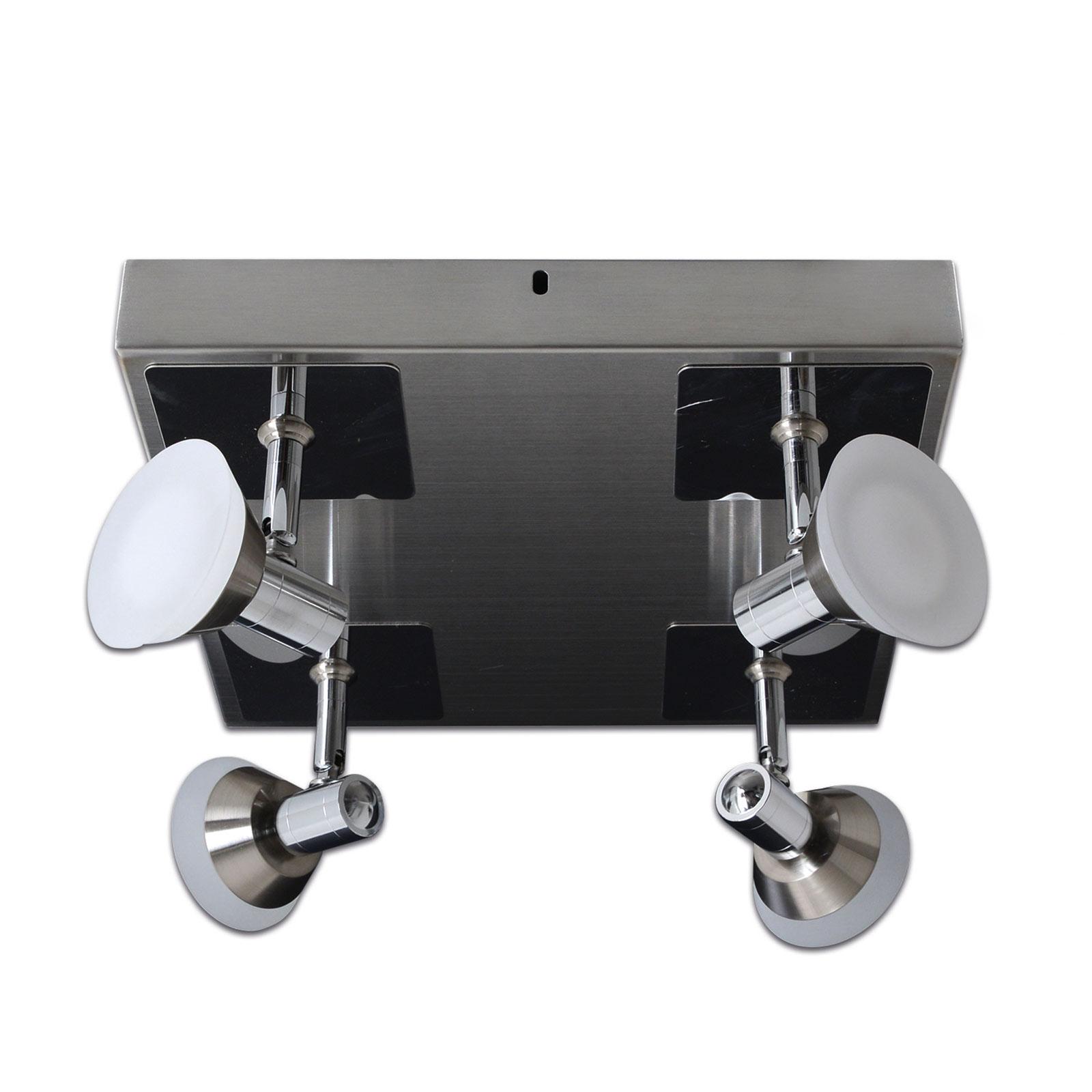 Plafonnier LED Jericho carré à 4lampes
