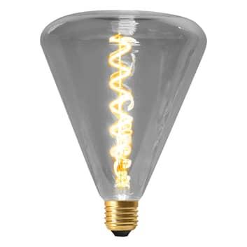 LED-Lampe Dilly E27 4W 2200K dimmbar, grau getönt