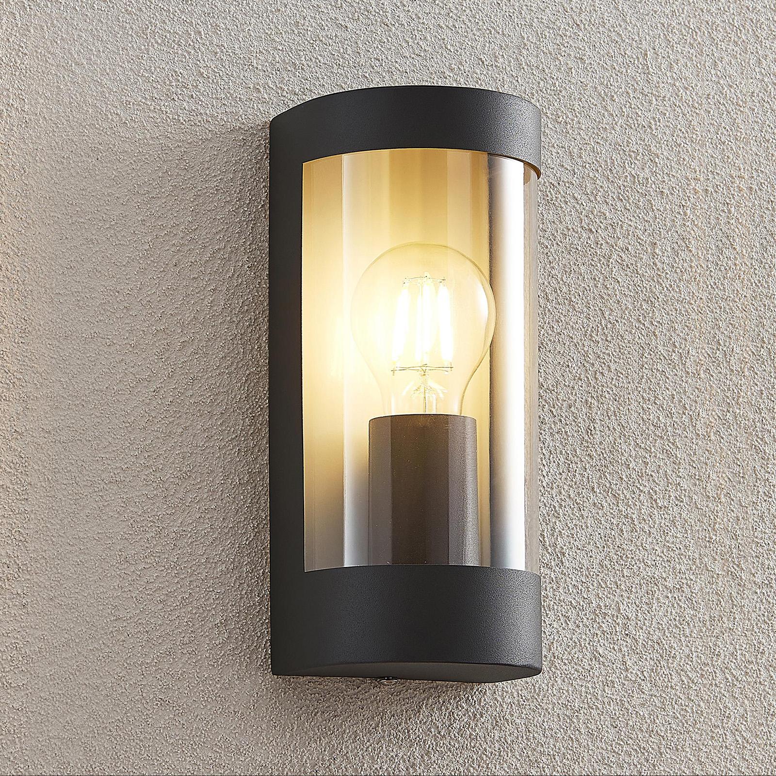 Lindby Junias Außenwandlampe, halbrund, E27