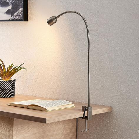 Lindby Hanilo lampada LED a morsetto nichel