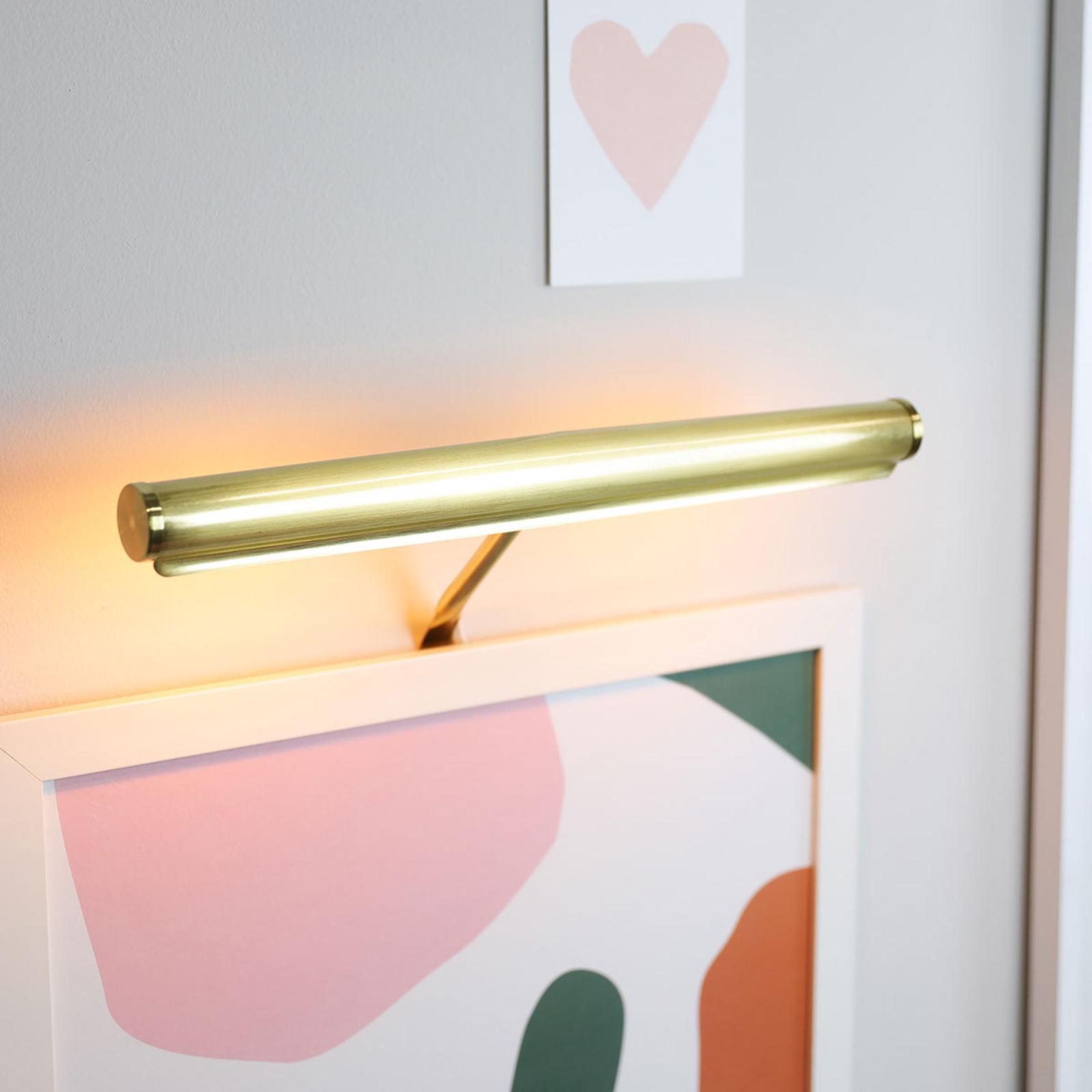 Lampada da quadri Mona-Lisa, larga 35 cm, ottone