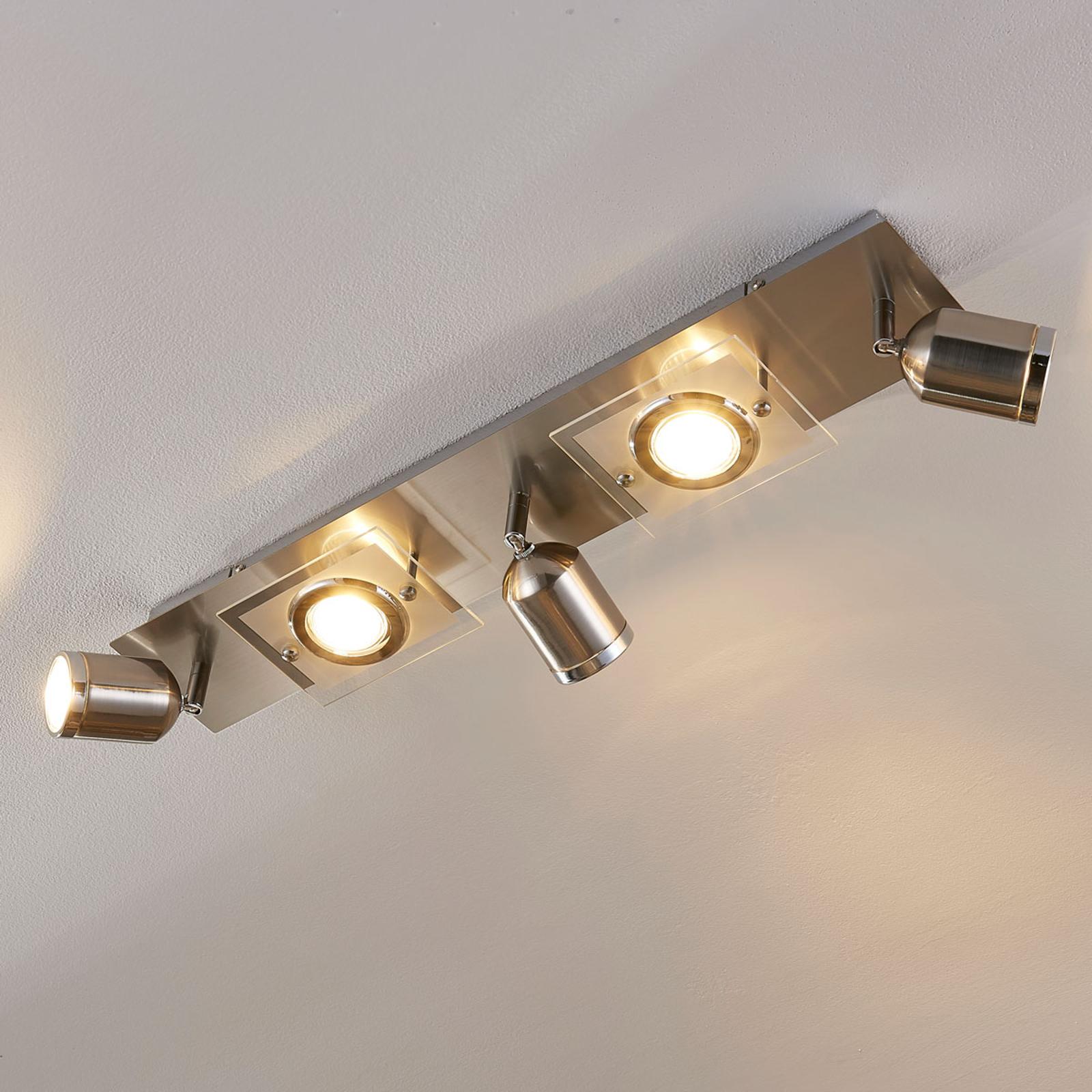 5-punktowy reflektor sufitowy LED Fjolla
