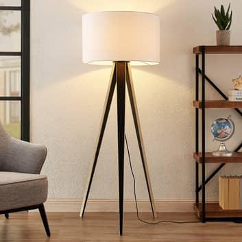 Lucande Bodhi trójnożna lampa podłogowa, biała