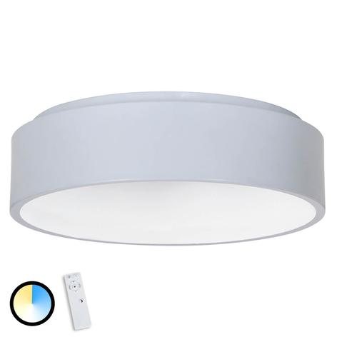 Graue LED-Deckenleuchte Birte mit Fernbedienung