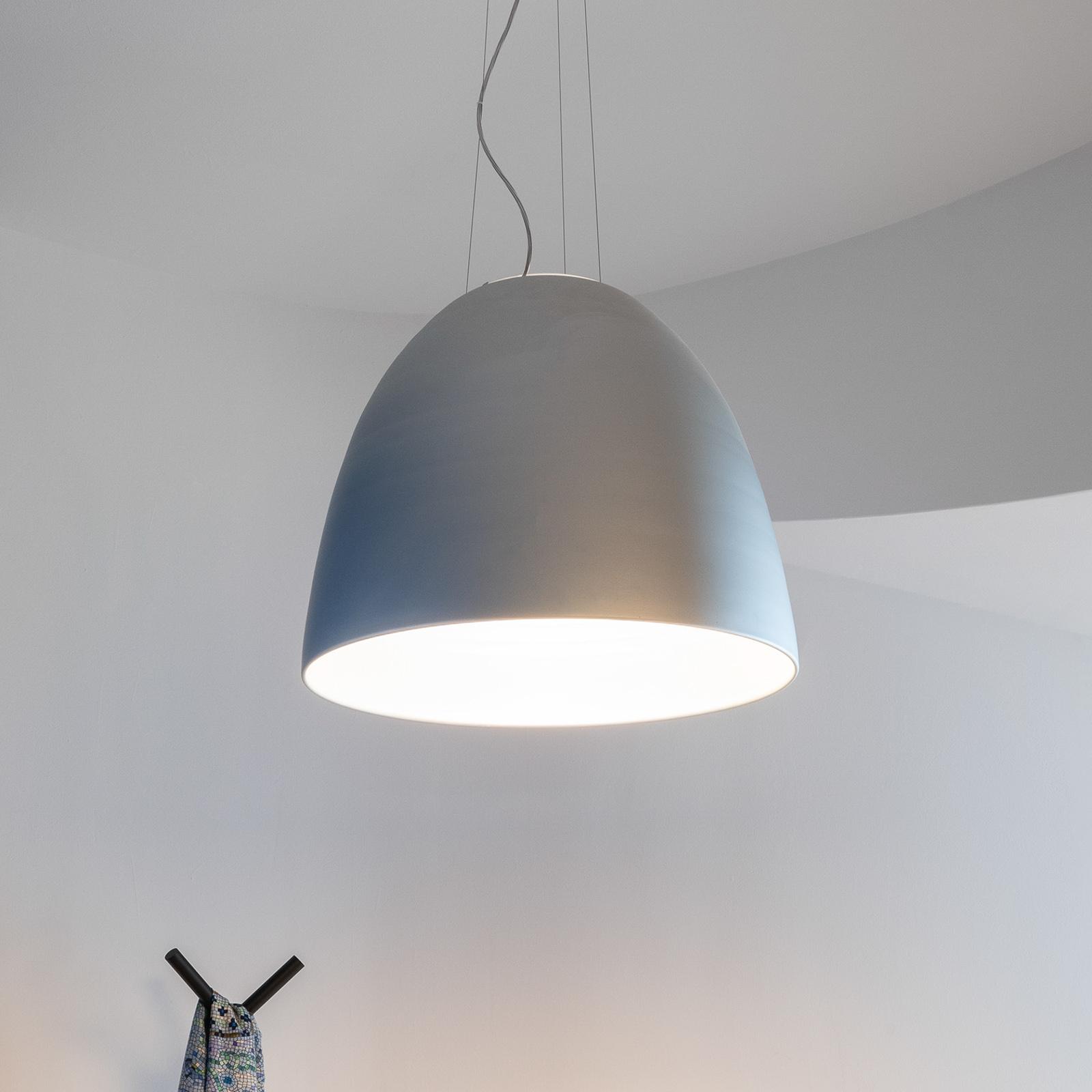 Artemide Nur app LED-hængelampe metalgrå