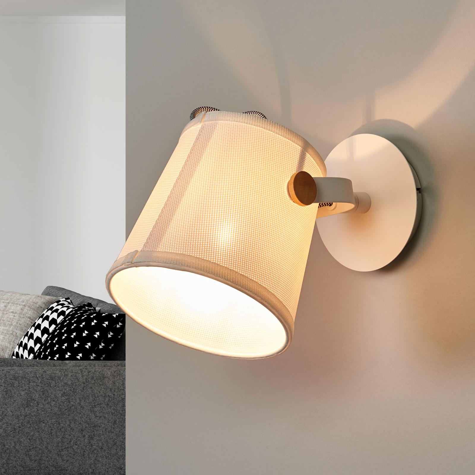 Wandlamp Nordica met textiel lampenkap