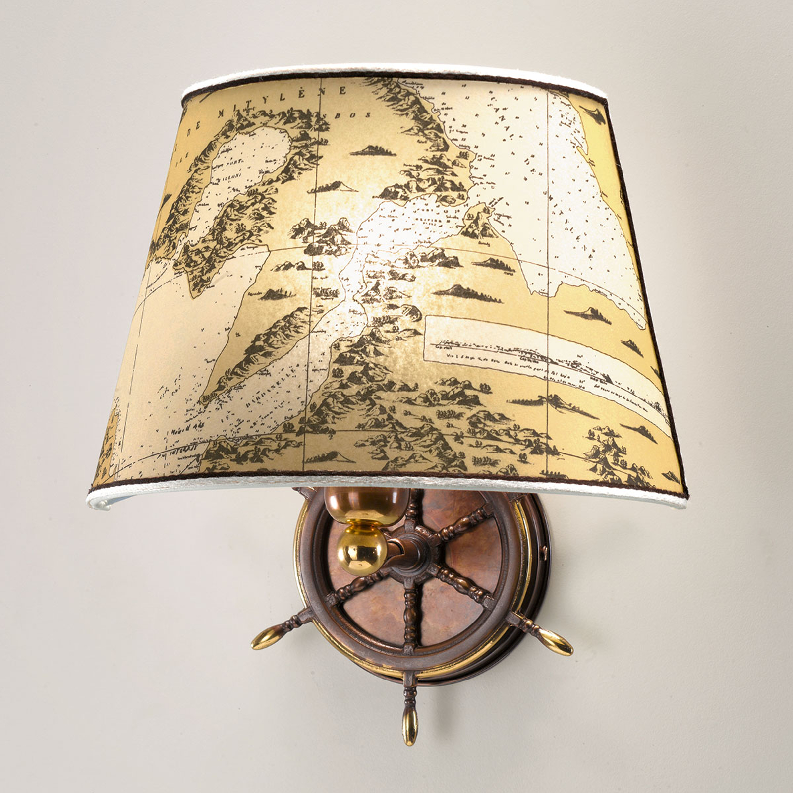 Maritim Nautica vegglampe med ett lys på 30 cm