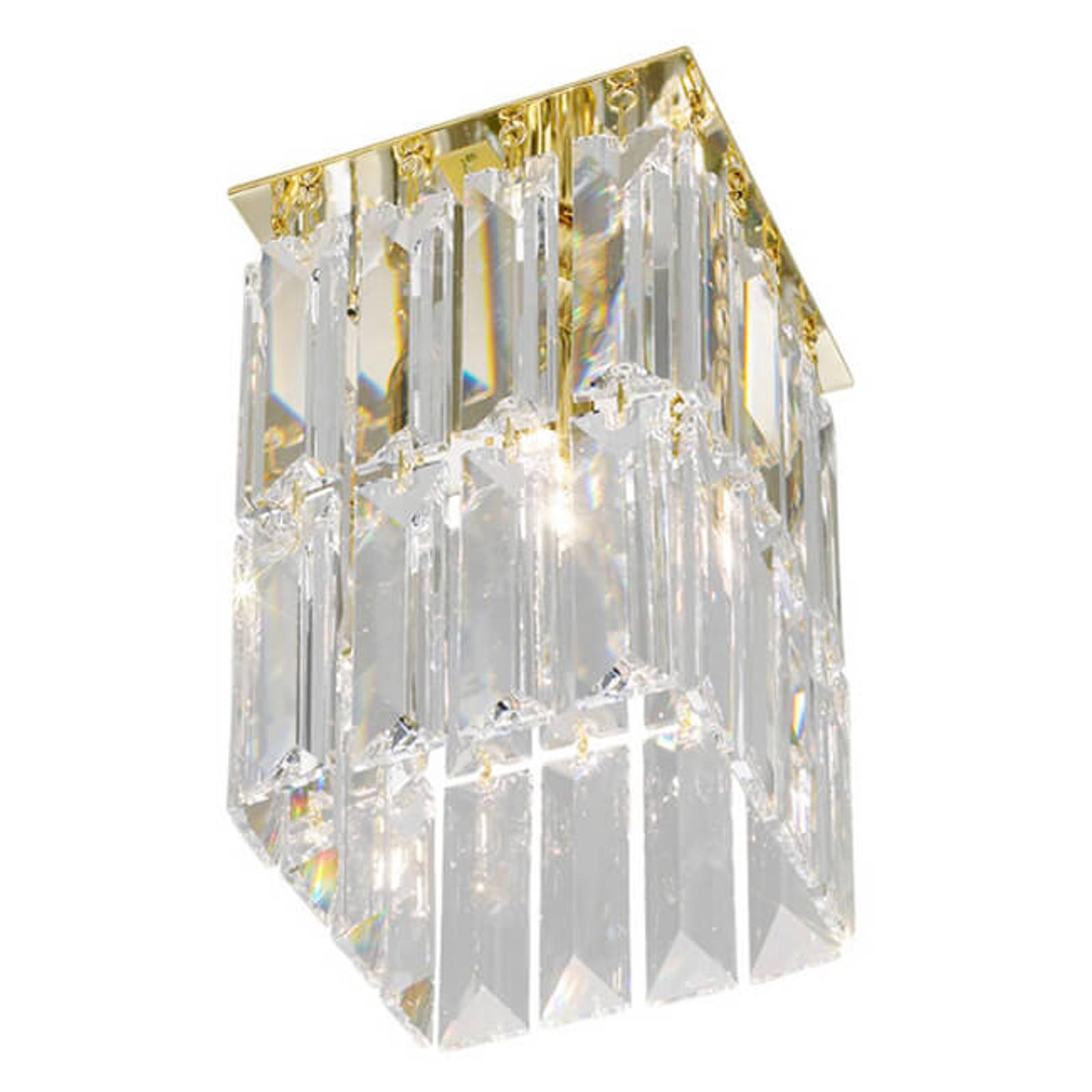 PRISMA krystall-taklampe i gull
