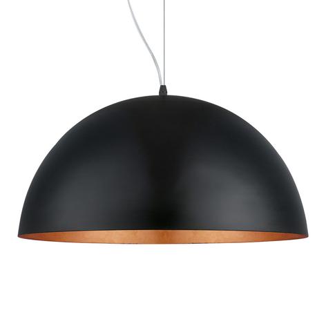 Závěsné světlo Gaetano 1 černé/měděné