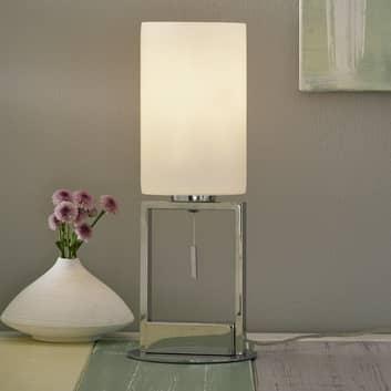 Stolní lampa Fine stínidlo sklo, tahový vypínač