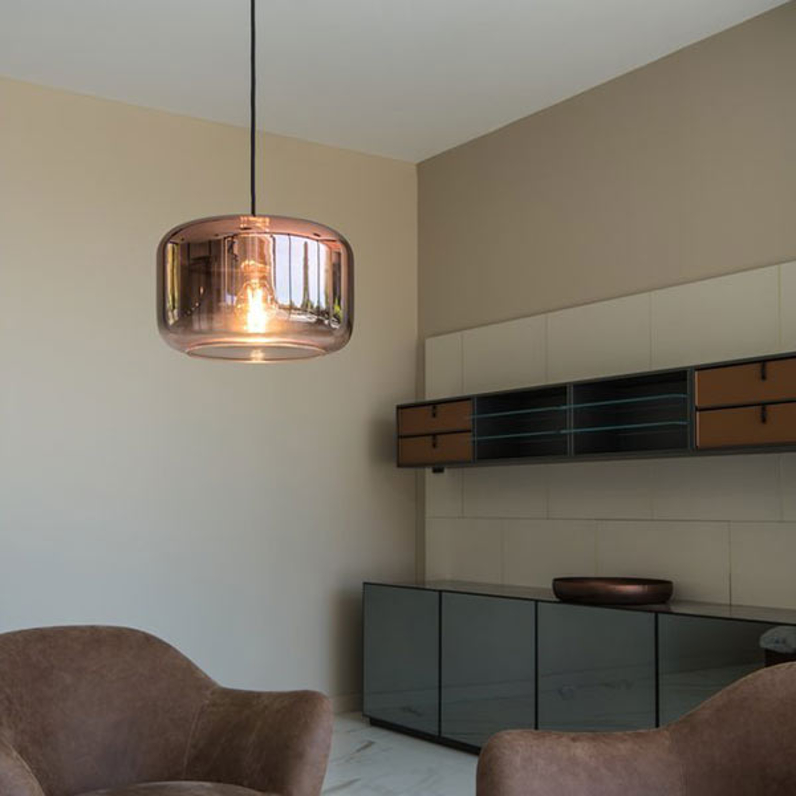 SLV Pantilo 28 hanglamp, Ø 28 cm, koper