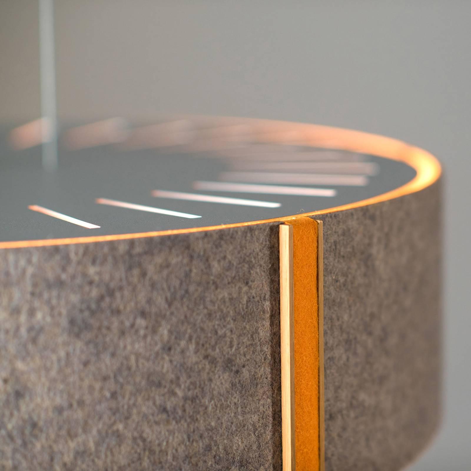 Suspension LED LARAfelt M, Ø43cm, grise/orange
