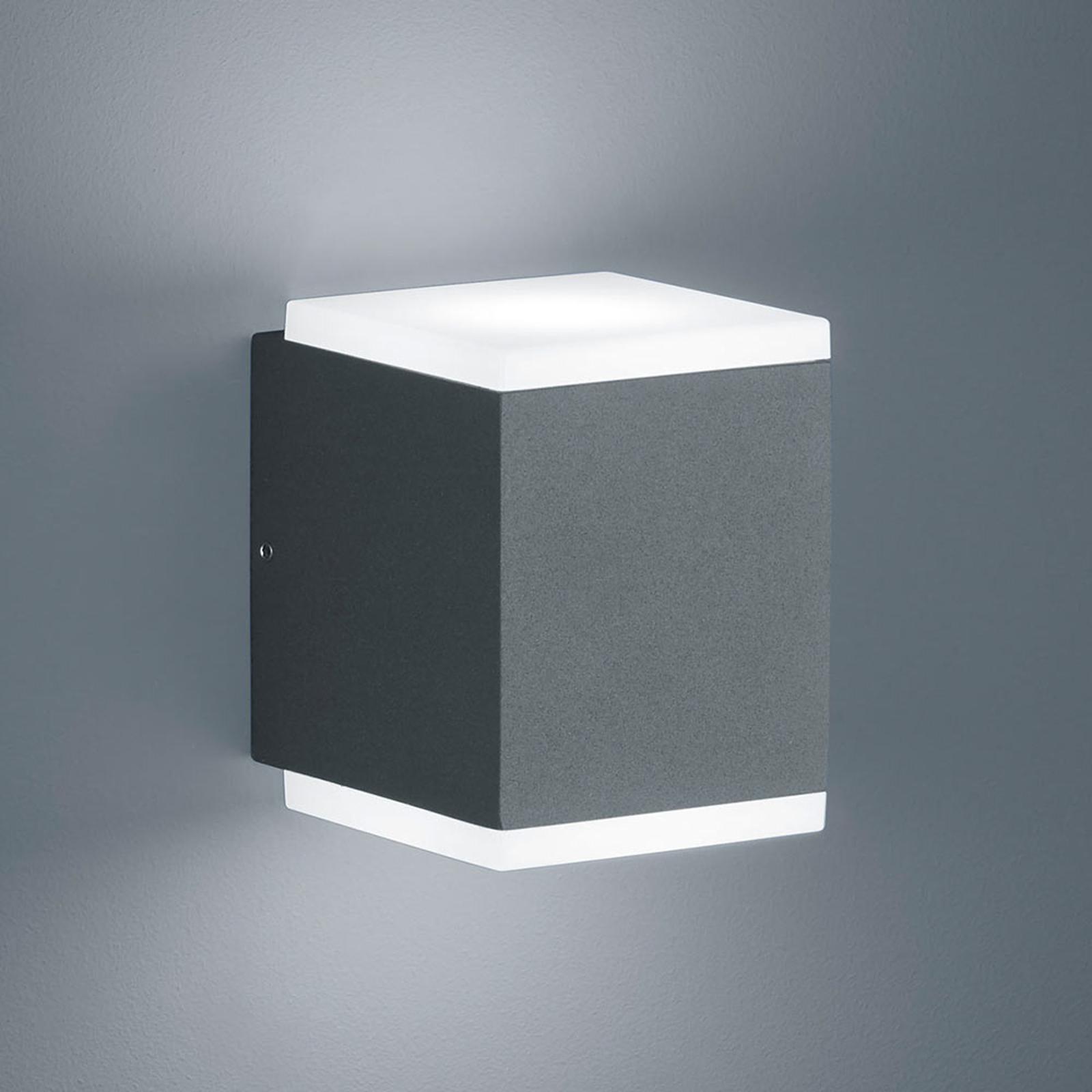 Helestra Kibo – kinkiet zewnętrzny LED, grafit