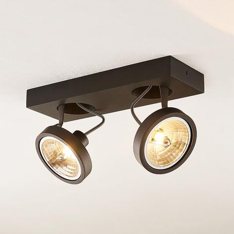 Arcchio Jorvin-takspot, 2 lyskilder svart