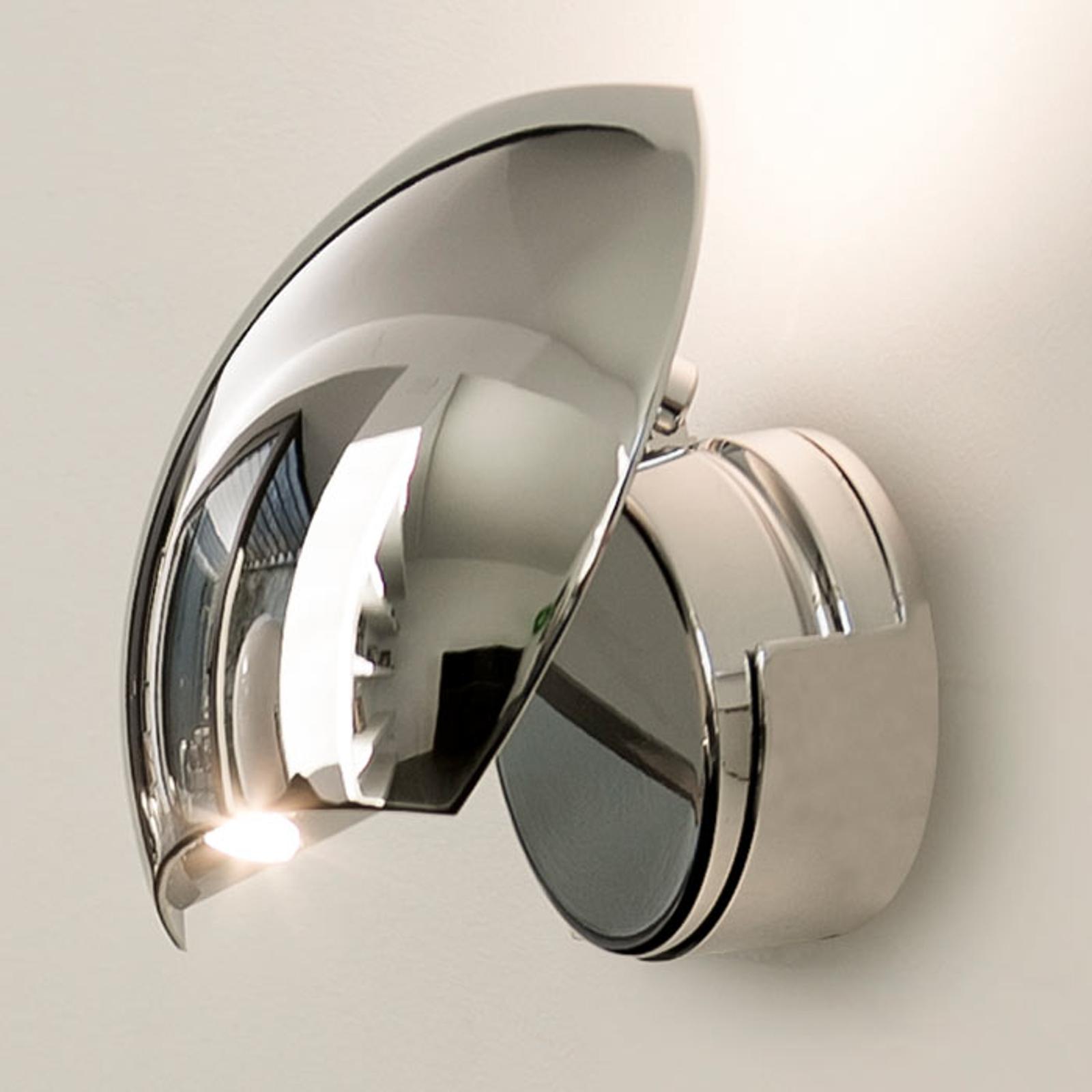 Chroomglanzende LED wandlamp Swing, instelbaar