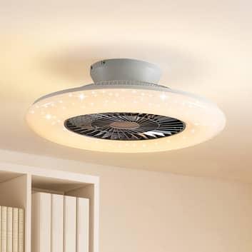 Starluna Madino -LED-kattotuuletin valaistuksella