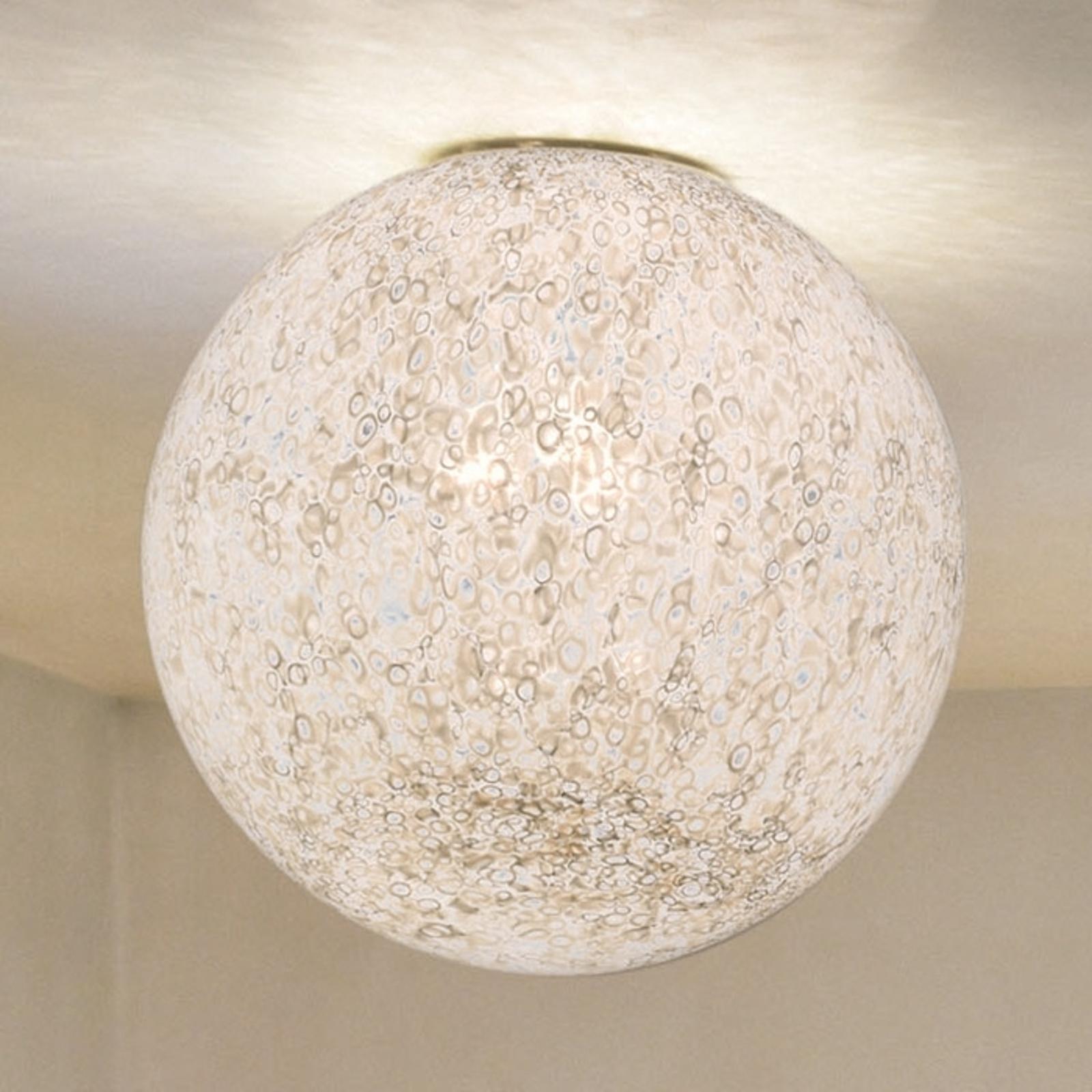 Ręcznie wykonana szklana lampa sufitowa RINA