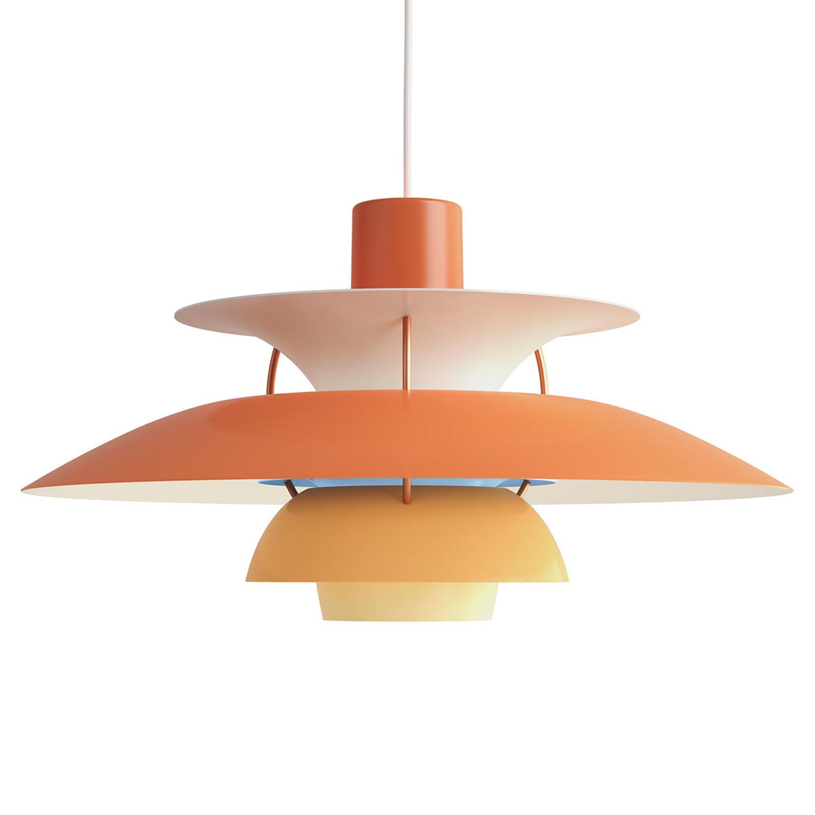 Deense designer hanglamp PH 5, oranje