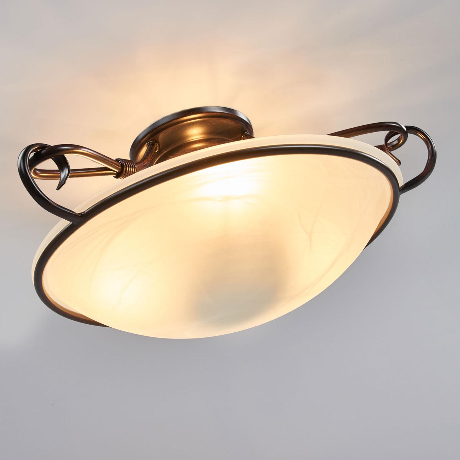 Dekoracyjna lampa sufitowa COMO w kolorze rdzy