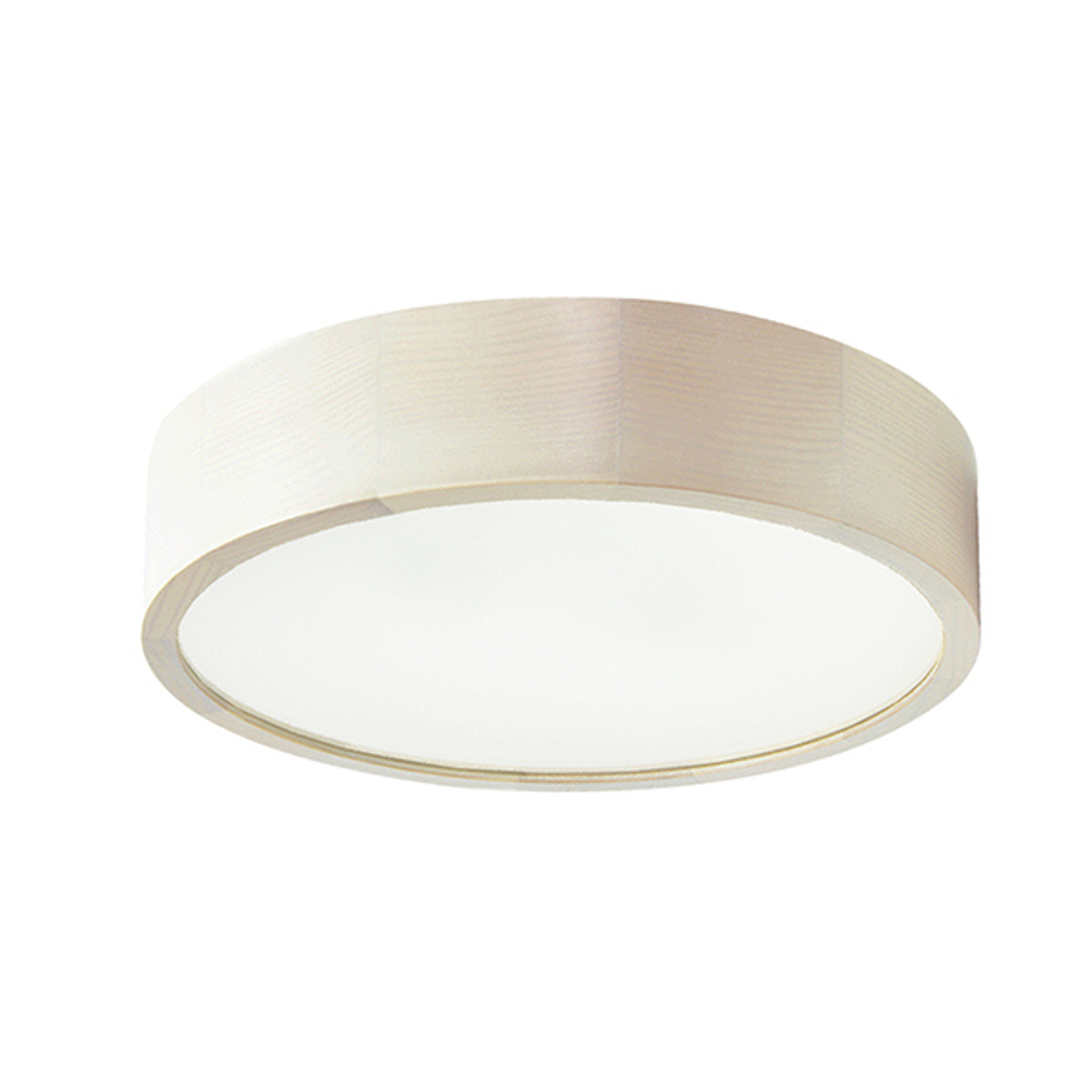 LED-taklampa Cleo, Ø 38 cm, vit