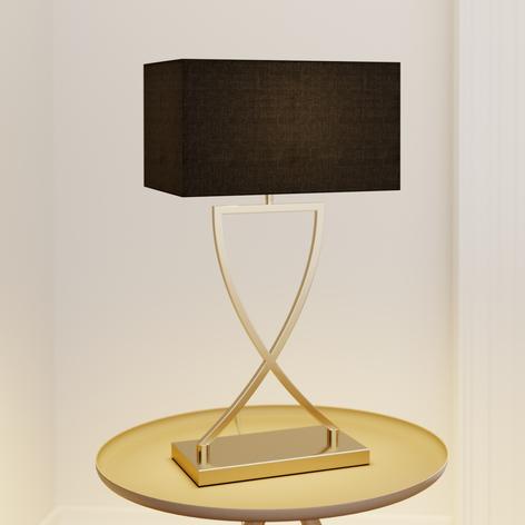 Lucande Evaine lampada da tavolo ottone/nero