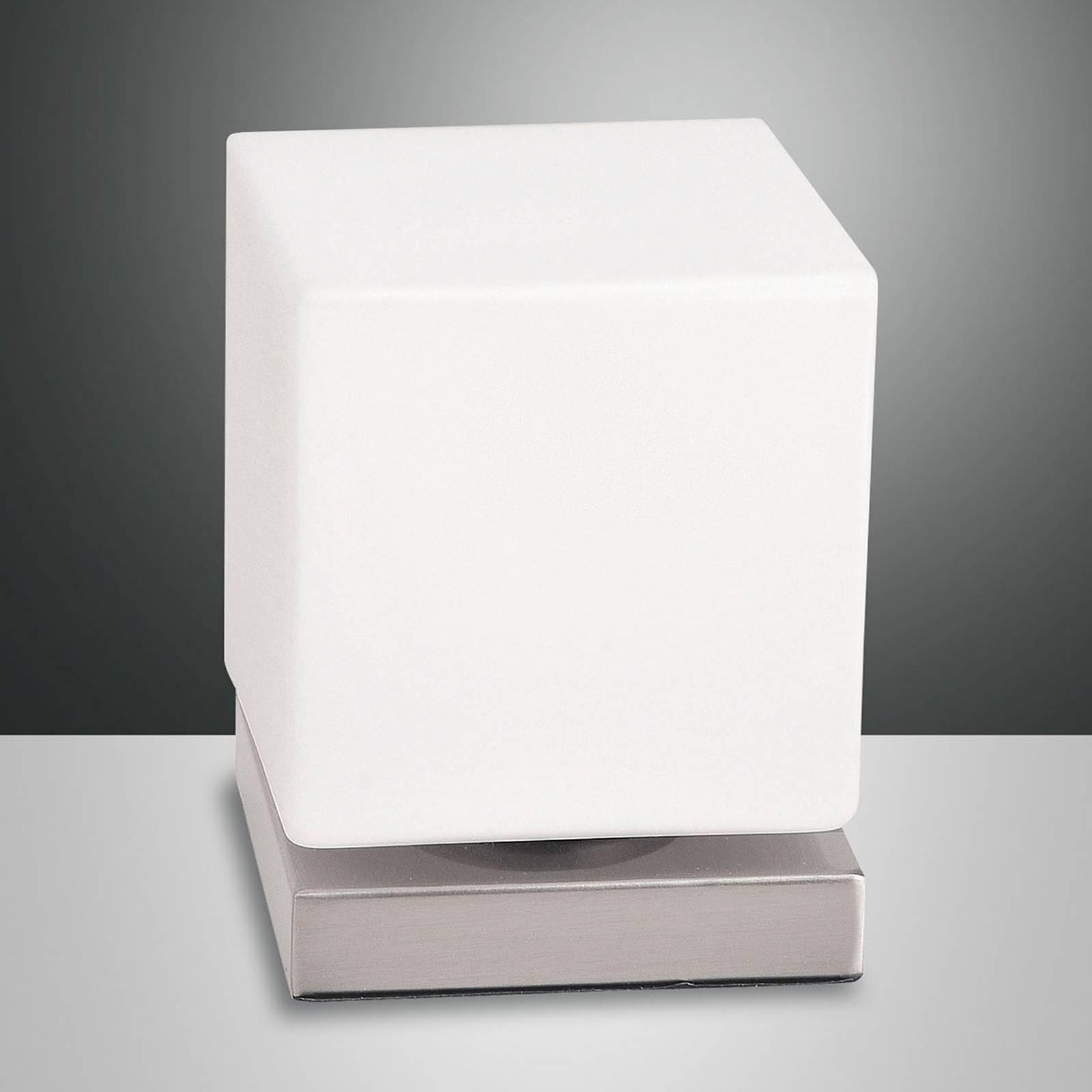 Lampe à poser LED Brenta nickel avec variateur