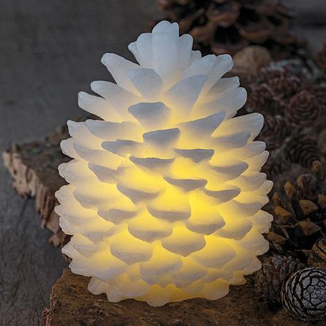 Świeca LED Clara w kształcie sopla, wysokość 14 cm