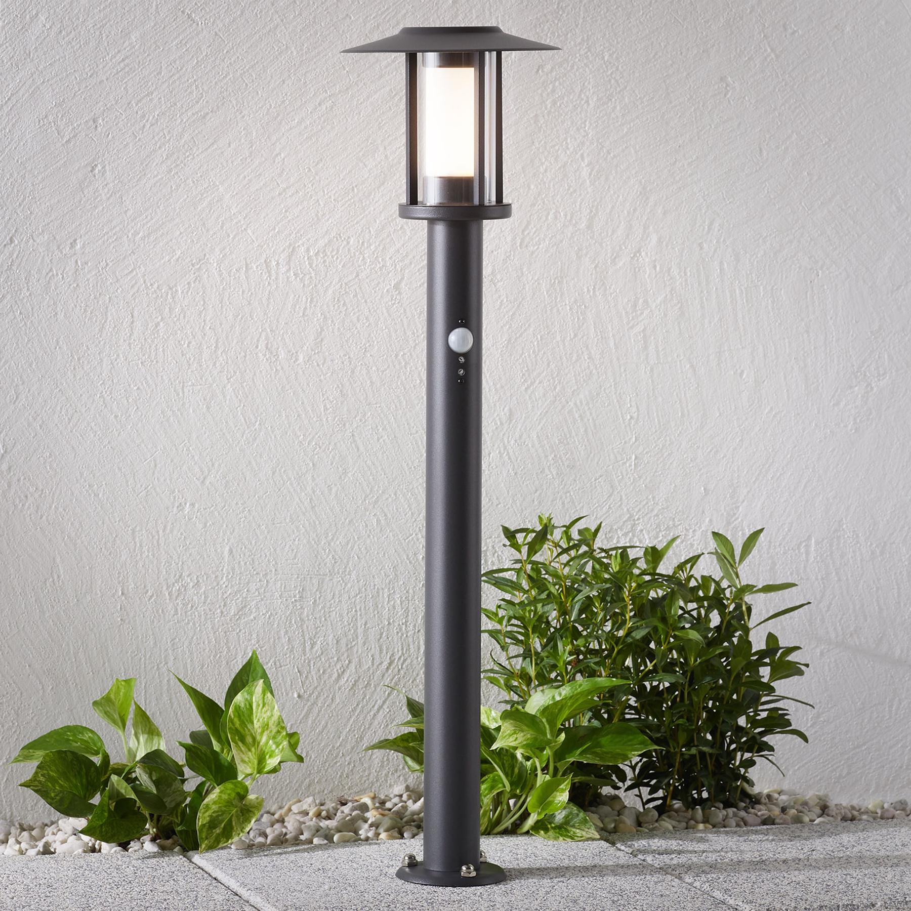 LED-Wegeleuchte Gregory, dunkelgrau, mit Sensor