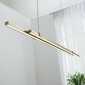 LED-pendellampe Tymon i bjælkeform, smal, udtræk