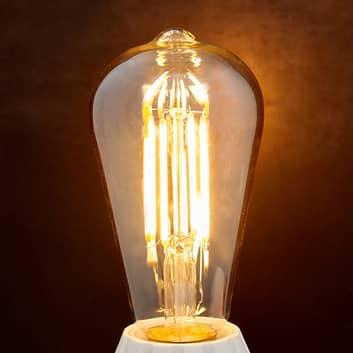 E27-LED-rustiikkilamppu 6 W 500 lm ambra 2200 K