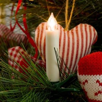 Set de extensión velas árbol Navidad, 8cm 5 luces