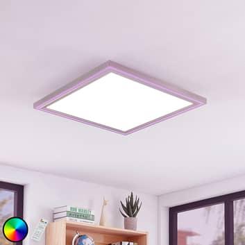 Lámpara LED de techo Lynn, CCT+RGB, 60x60 cm