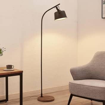 Lindby Rubinjo standerlampe med træfod, 1 lyskilde