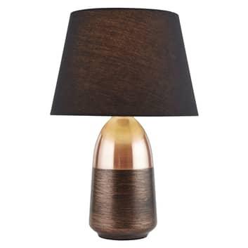 Lampe à poser EU700341 en noir et cuivre
