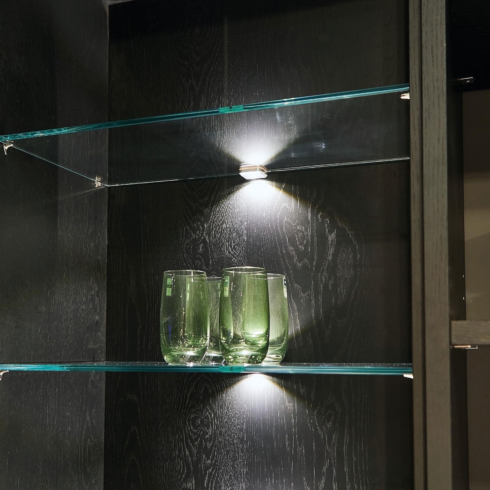 LED-glasclip, opp og ned, rustfritt stål