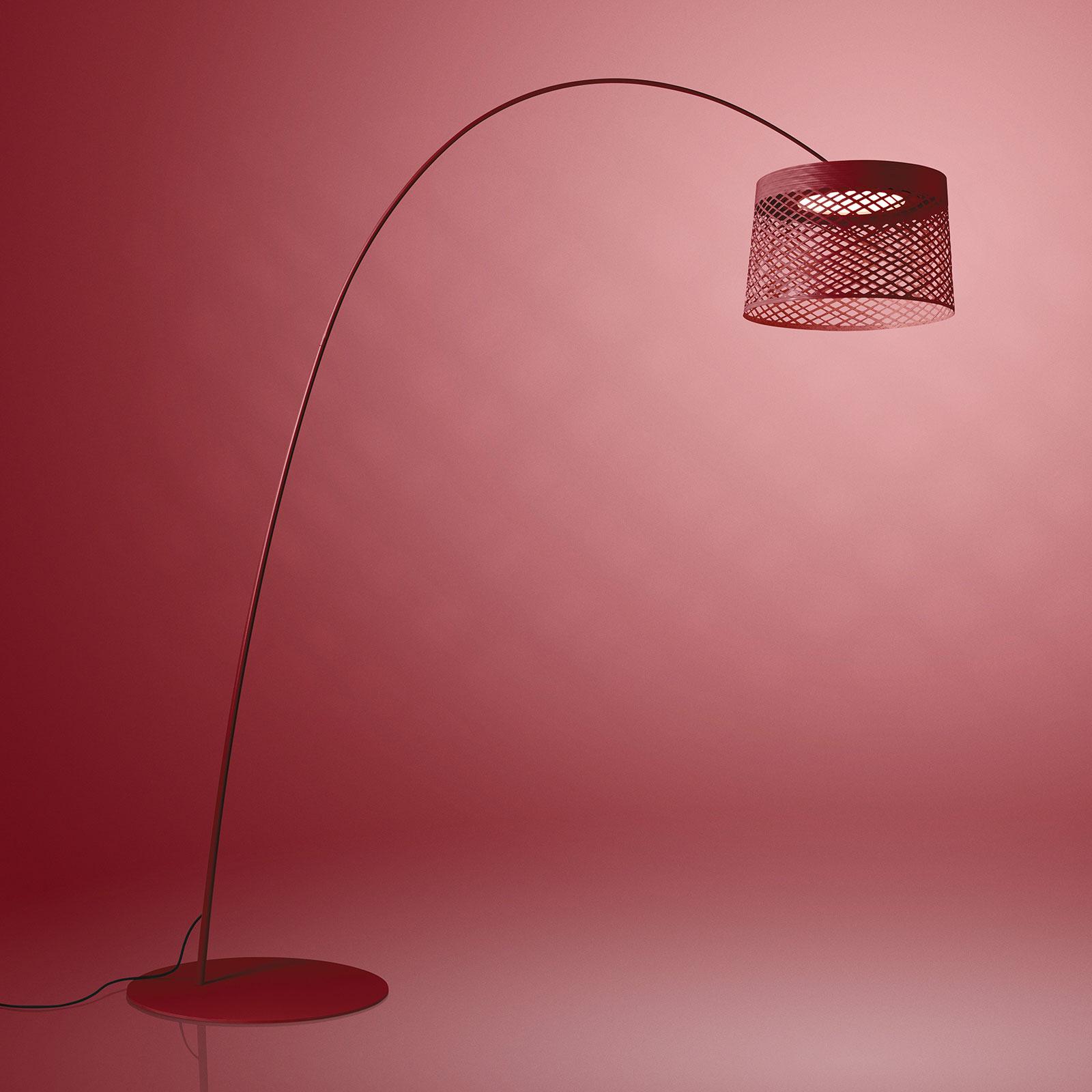 Foscarini Twiggy Grid LED-båglampa, karmin
