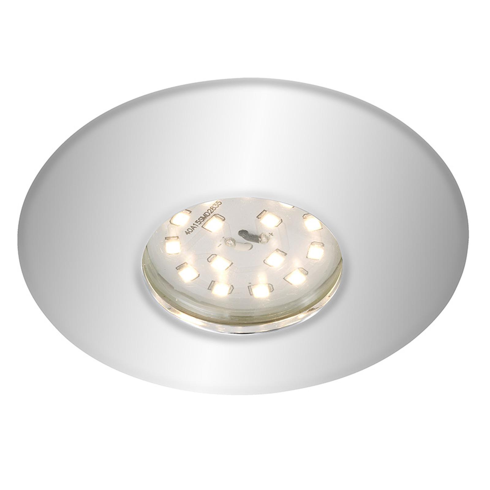 Förkromad LED-inbyggnadsspot Shower, IP65