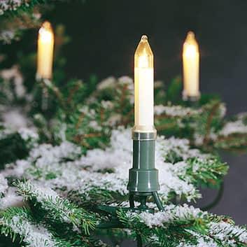Vánoční řetěz s klasickými svíčkami venkovní 12 m