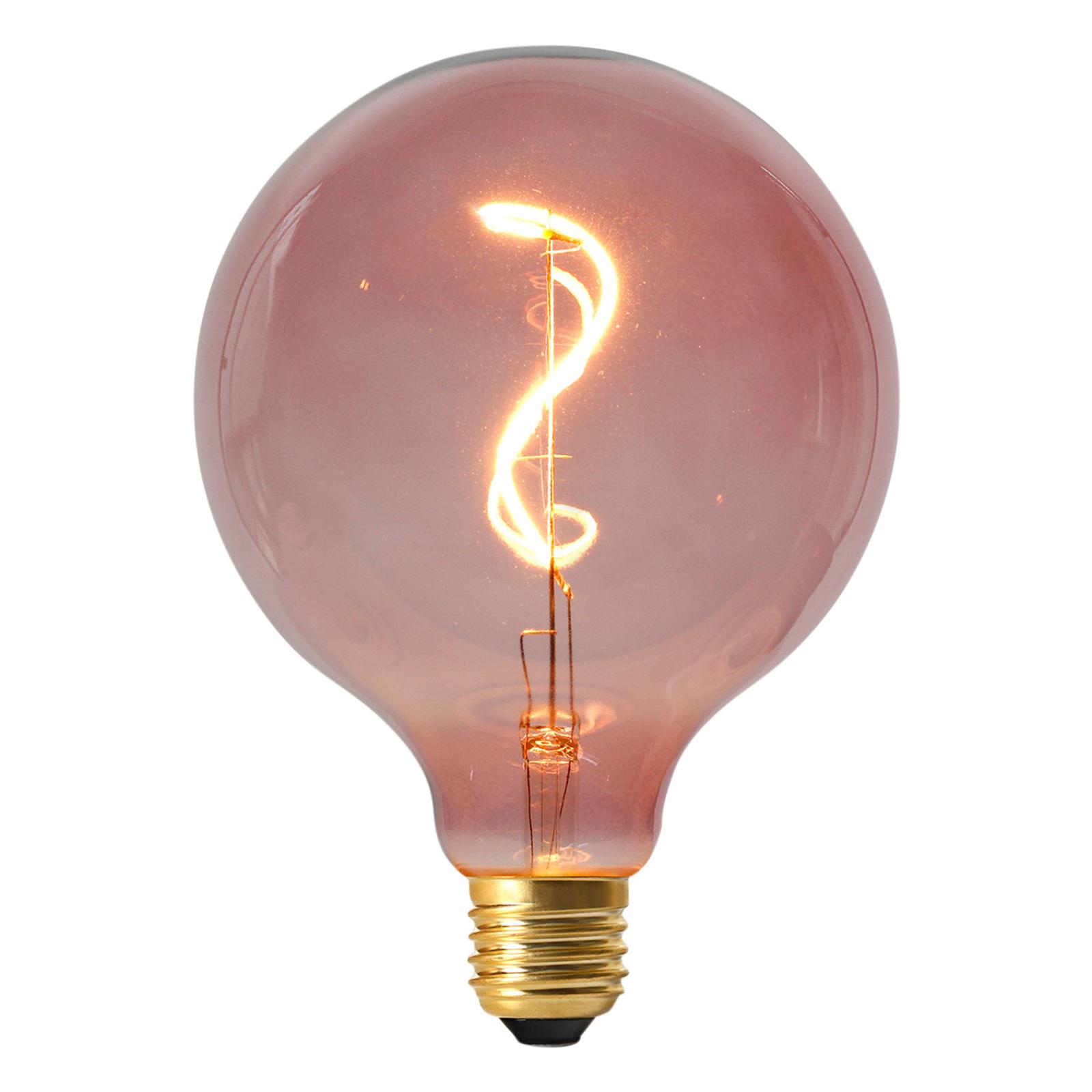 LED-Globelampe Dilly E27 4W 2000K dimmbar, rot