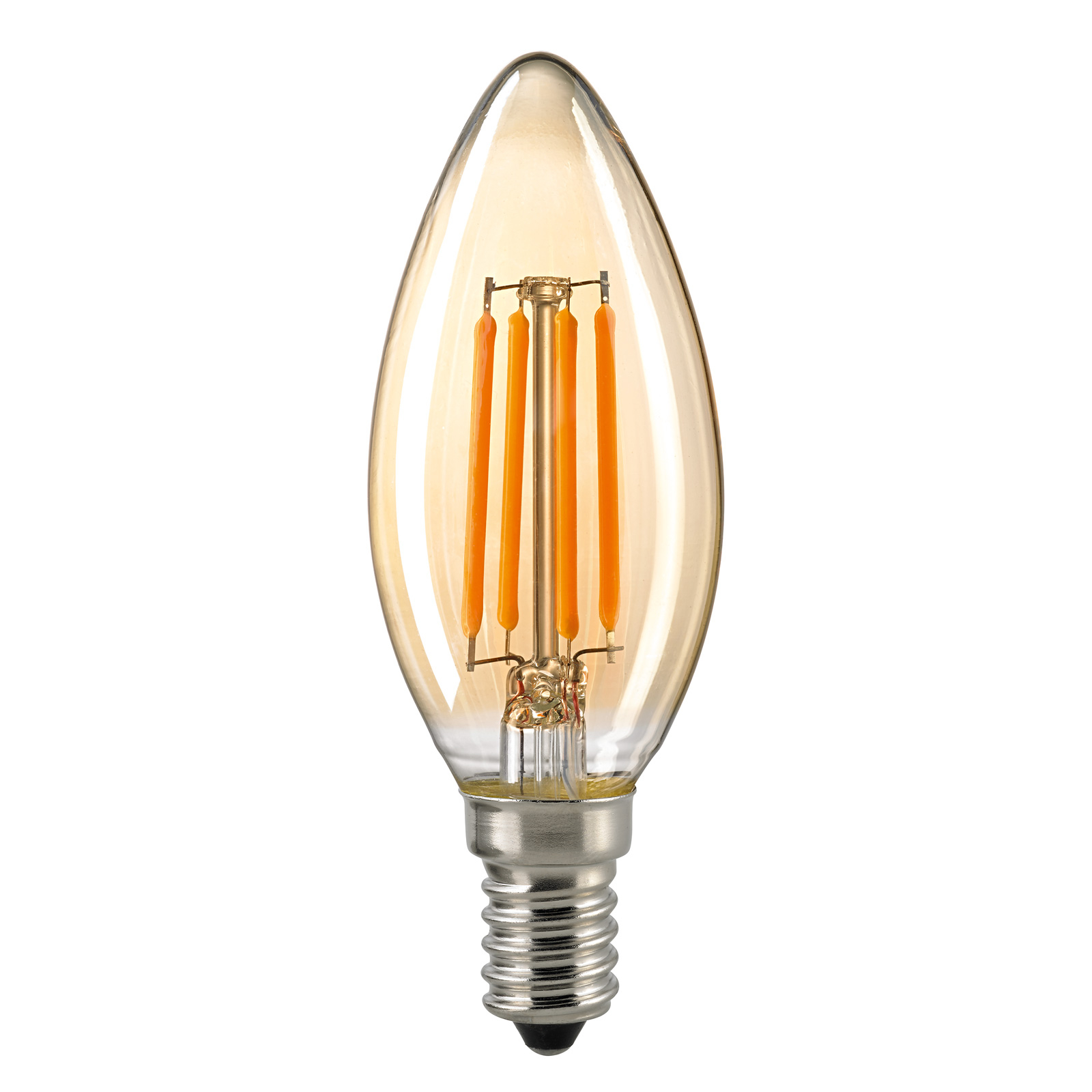Ampoule flamme LED E14 4,5W filament or dimmable
