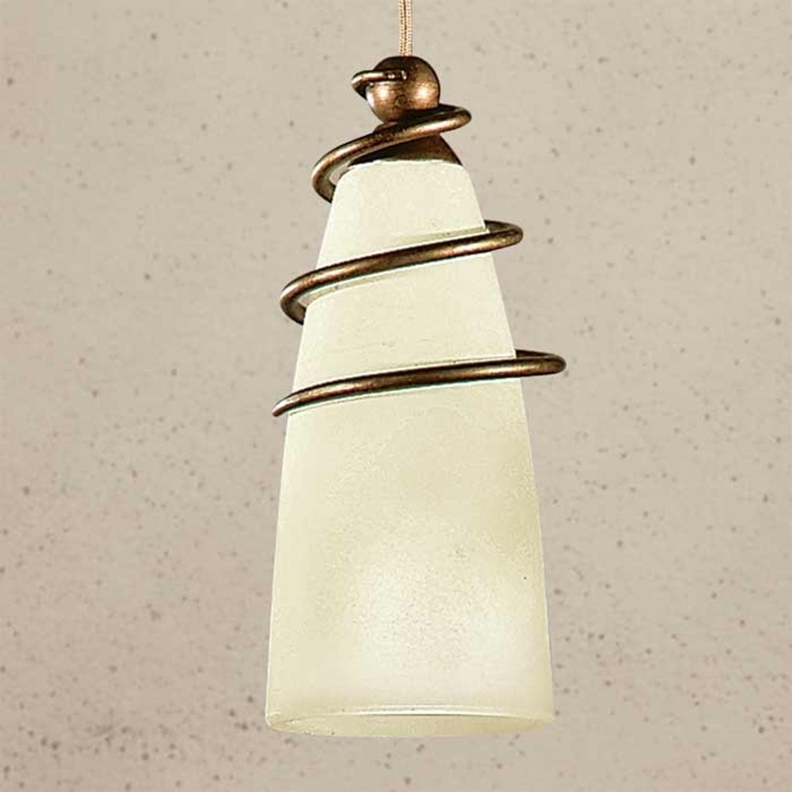 Wąska lampa wisząca z mosiądzu Daniele