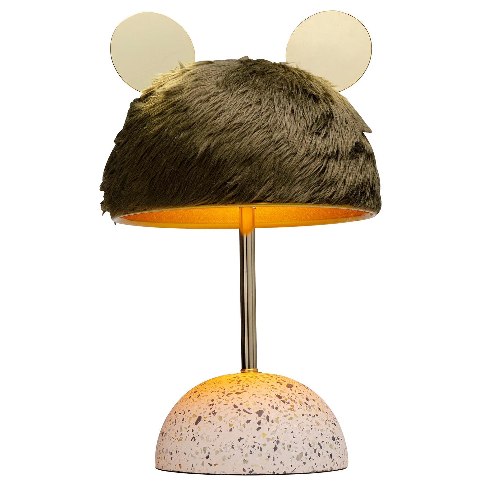 KARE Ear lampa stołowa, klosz o wyglądzie futra