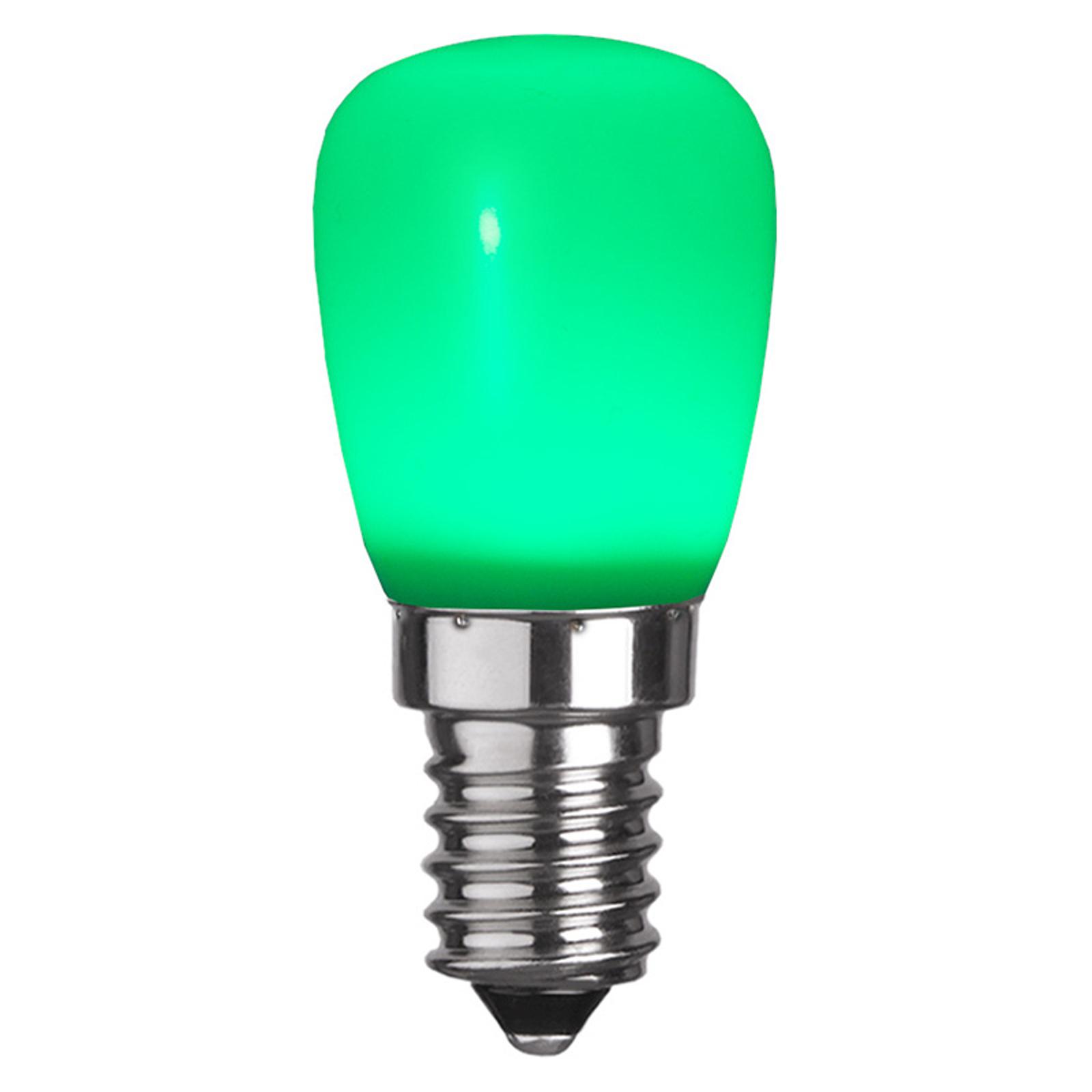 Ampoule LED E14 ST26 matériau synthétique, verte