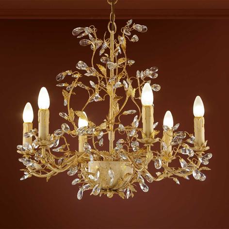 Kvetinový visiaci LED luster VERDI