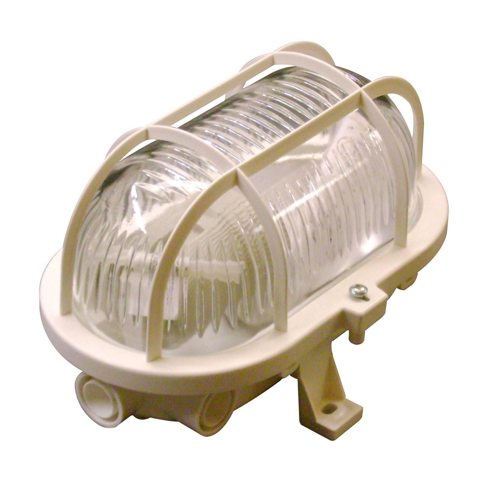 Væglampe Basic Oval, hvid
