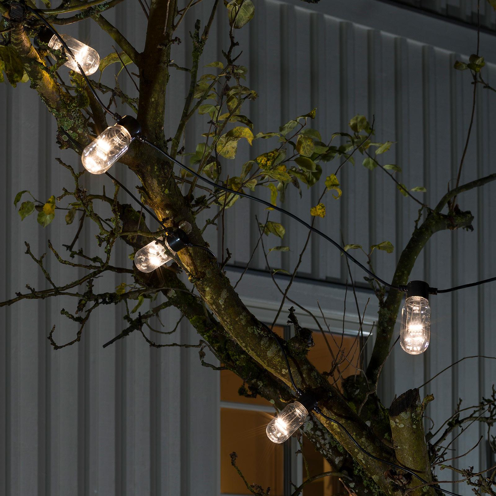 Guirlande Biergarten 10 tube LED blanc chaud
