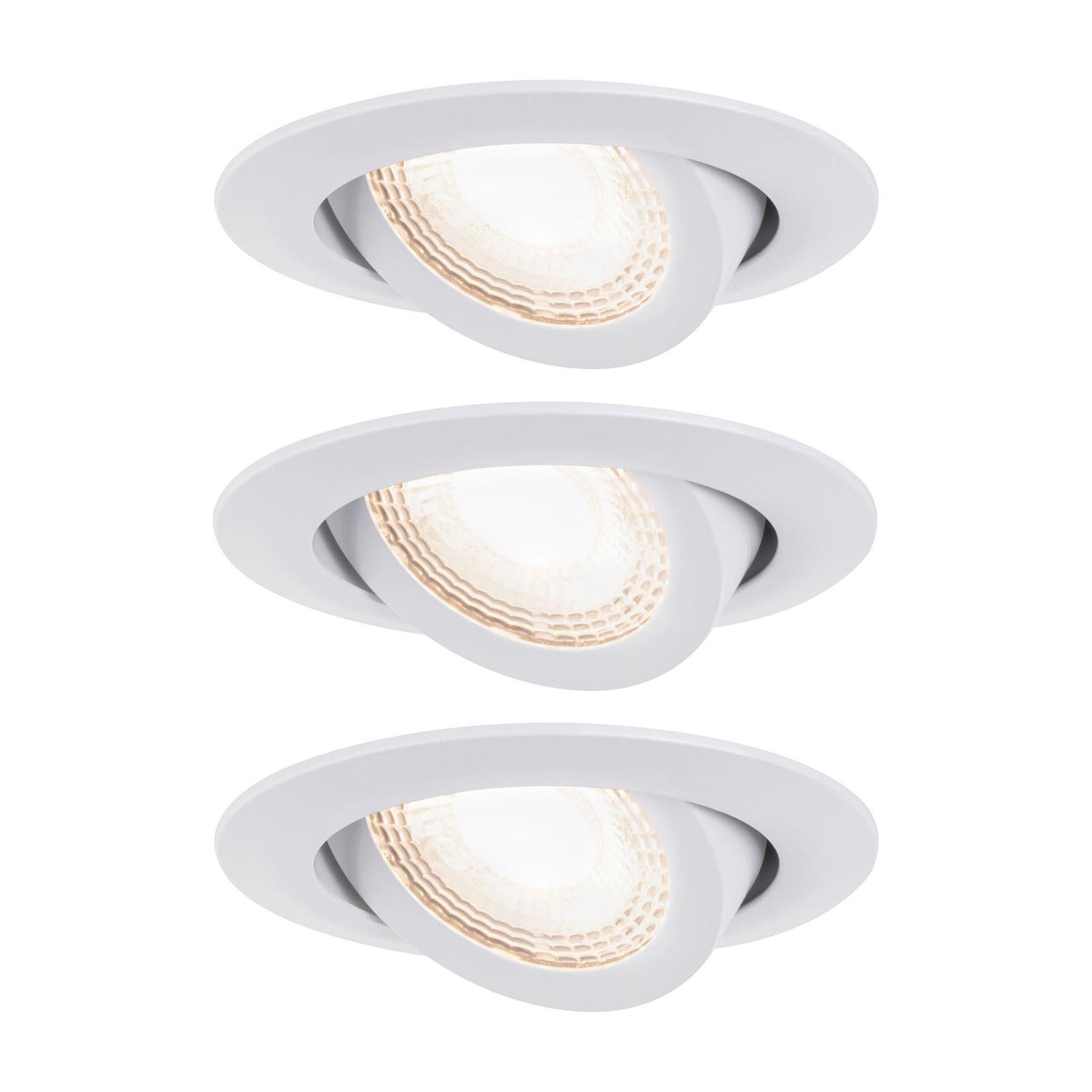 Paulmann 92985 LED-Einbauspot 3 x 6W, weiß matt