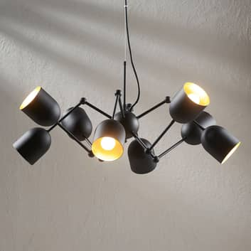Lampada sospesa LED Morik easydim, 8 punti luce