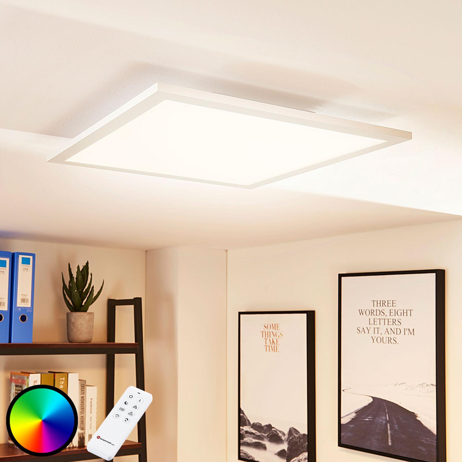 Panel LED Tinus, zmiana barw RGB – ciepła biel